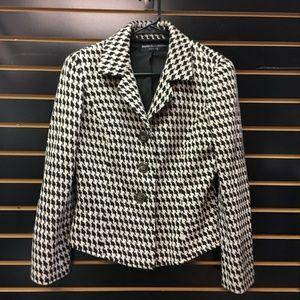 Dana Buchman Checked Houndstooth Wool  Jacket #317